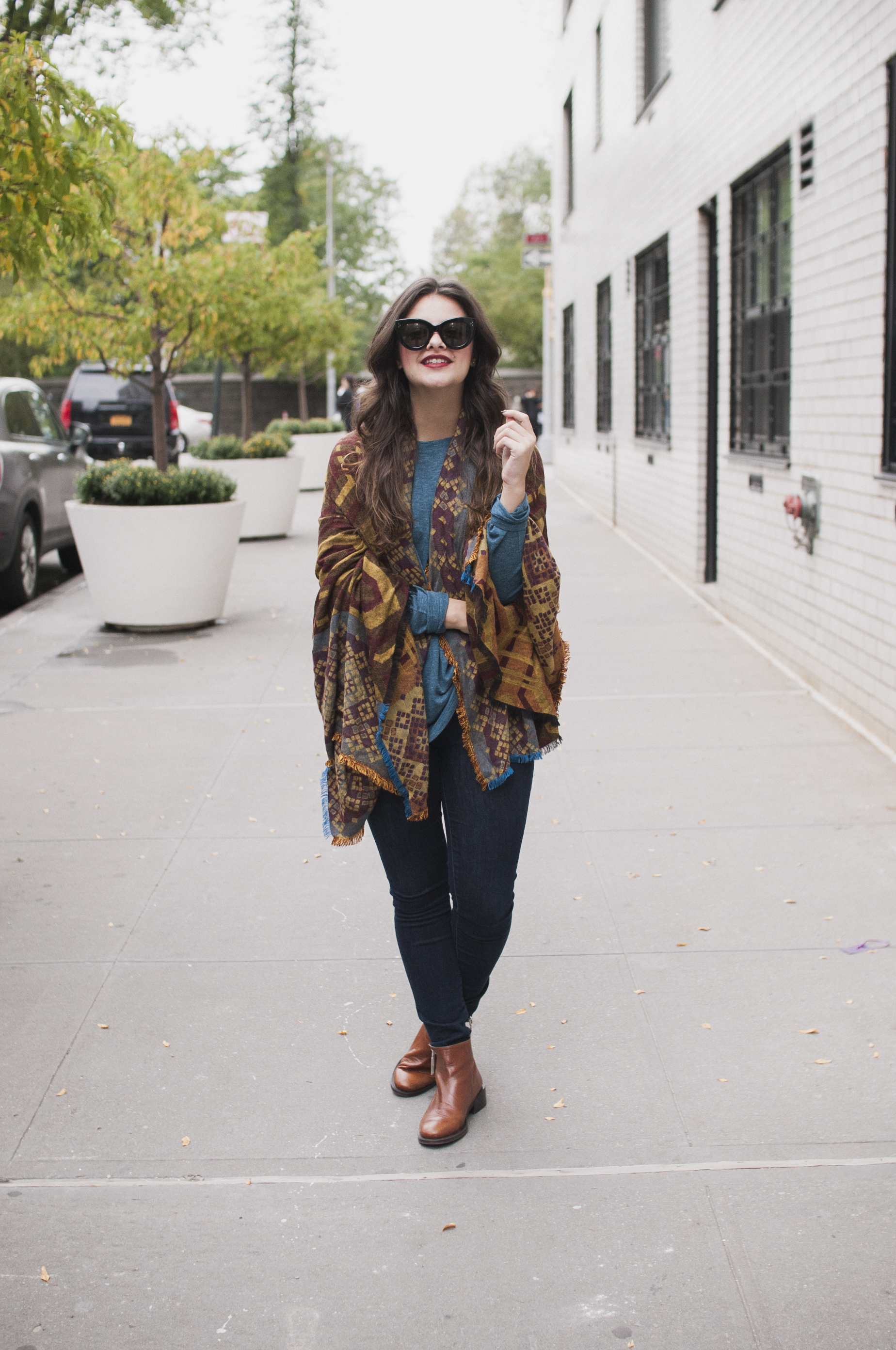 Wearing Fall Scarves
