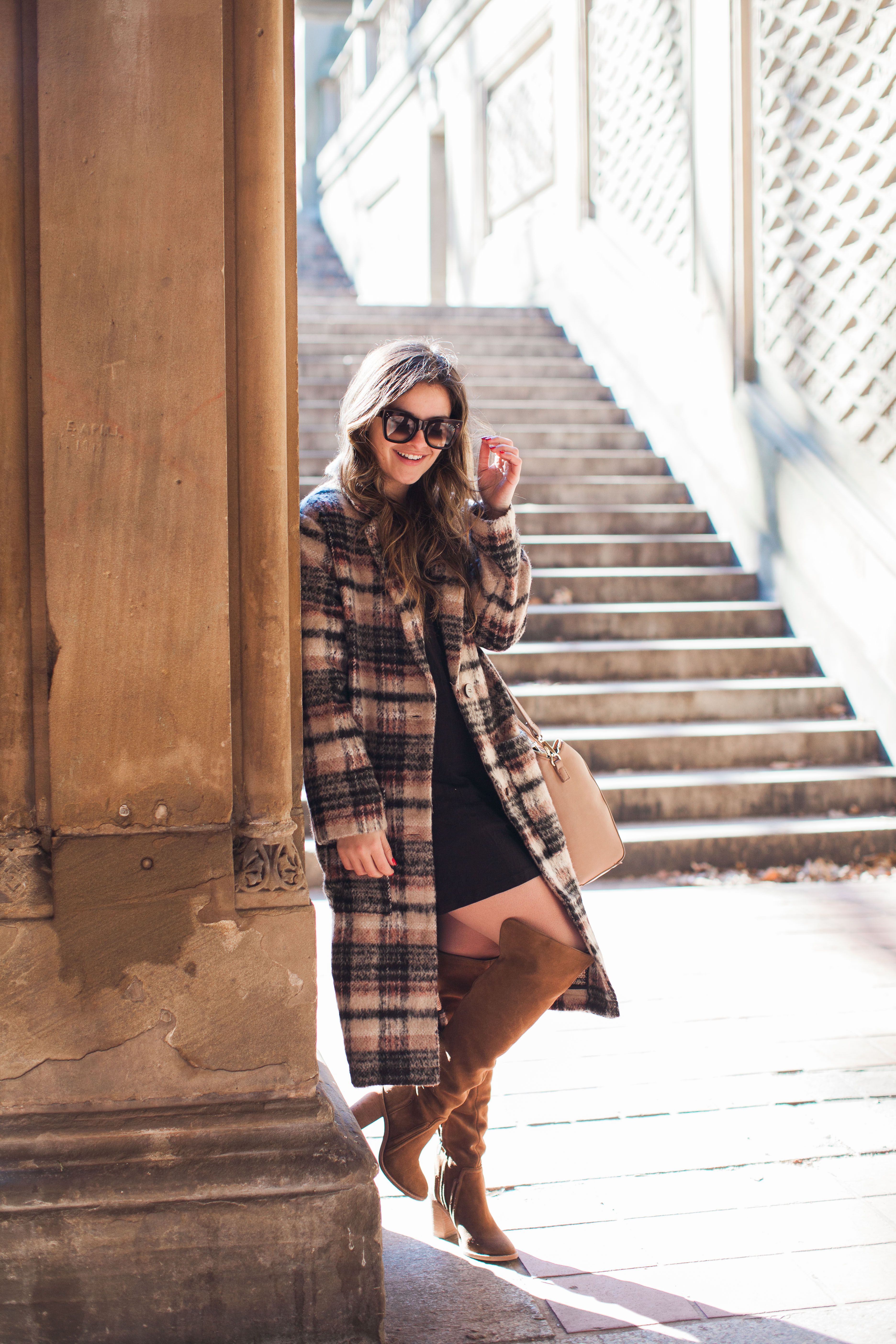 Wearing A Dress With A Long Coat