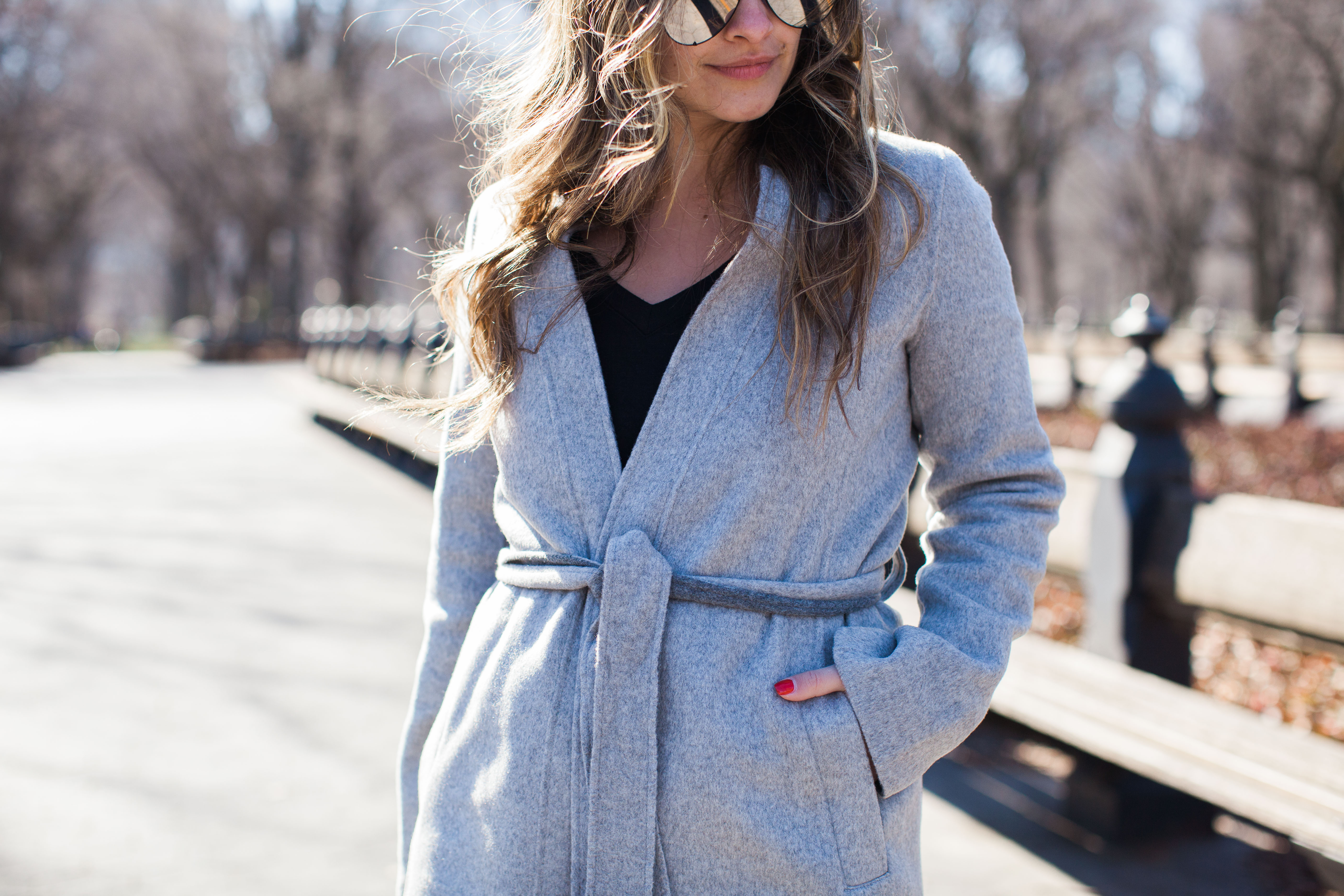 Banana Republic Double Face Wrap Coat