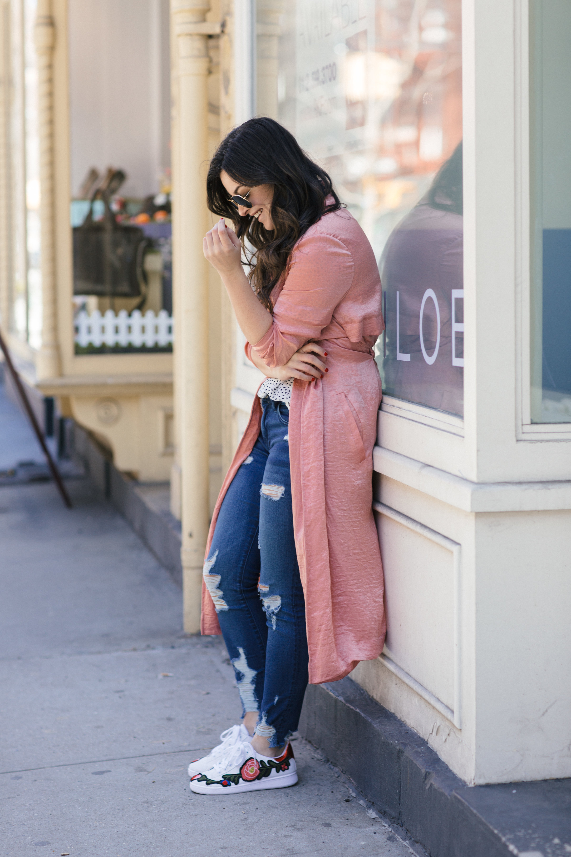 Floral Sneakers by NYC fashion blogger Dana of Pink Champagne Problems