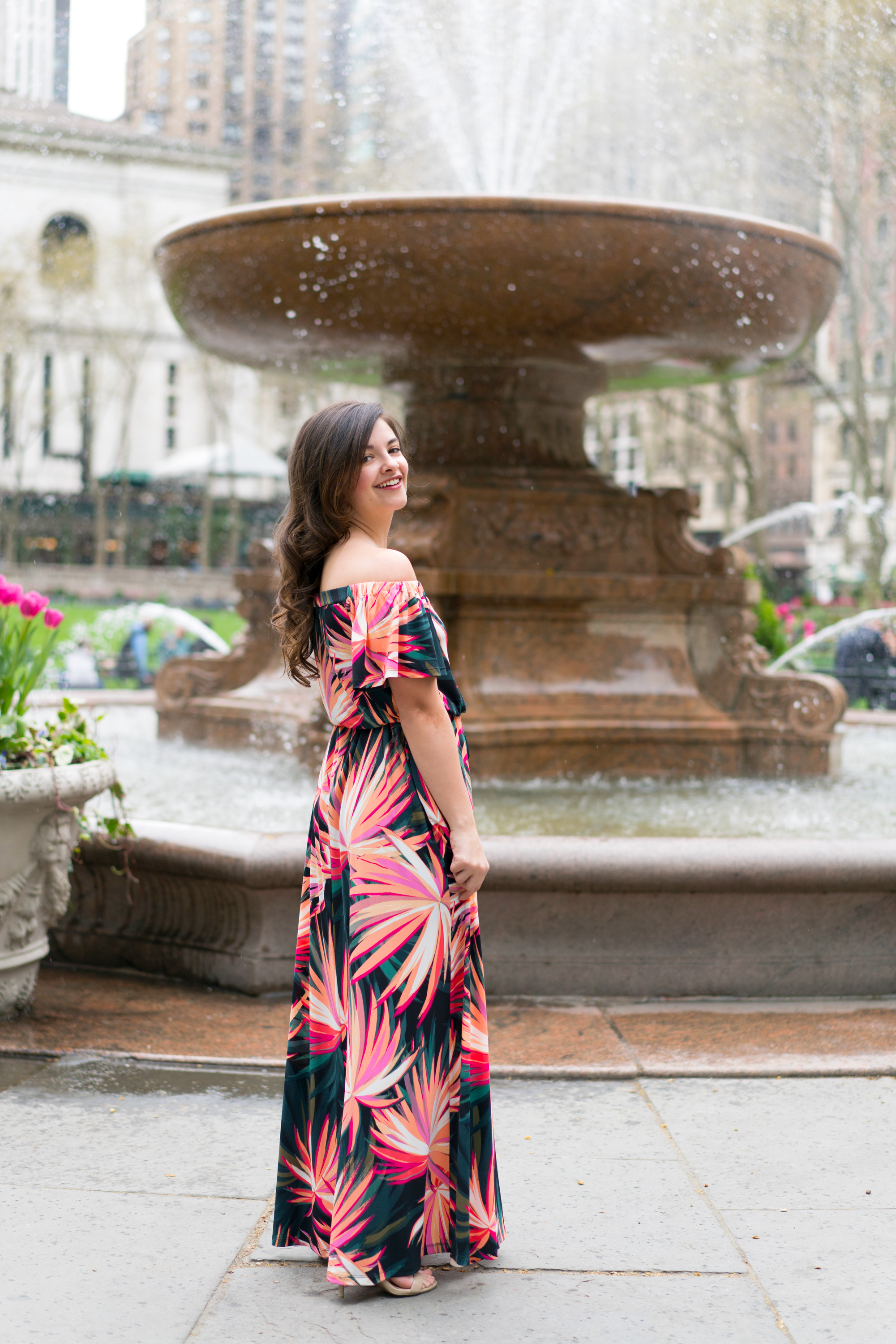 Floral Maxi Dress For Summer